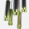 Cascade aluminium tubes green glass