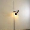 midcentury chrome floor lamp